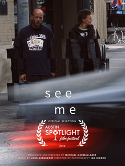 see me - poster with spotlight laurel