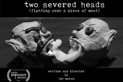 two severed heads poster
