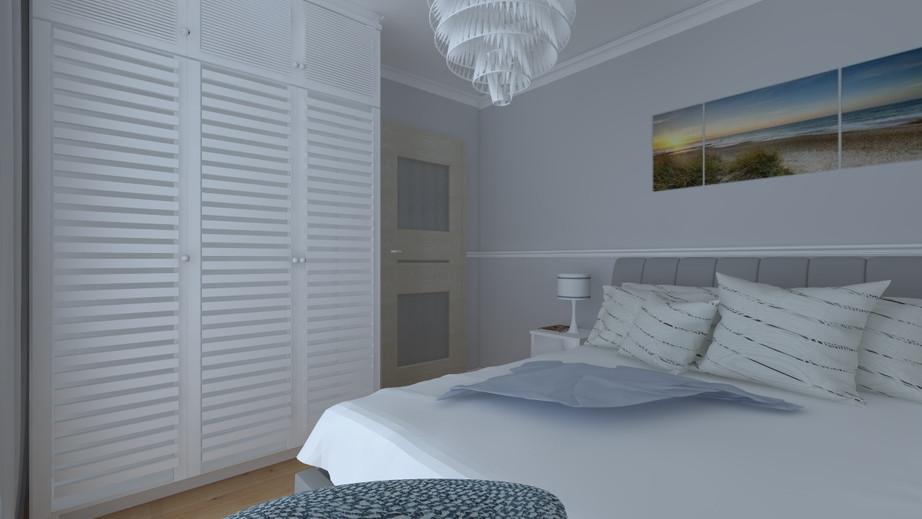 Sypialnia w stylu Hamptons, Pruszków