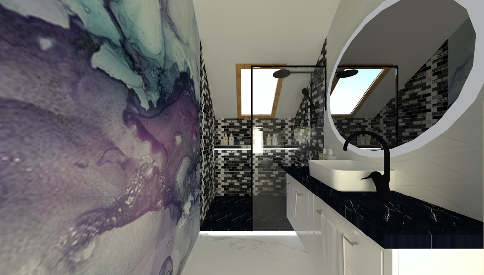 Mała łazienka ze skosem