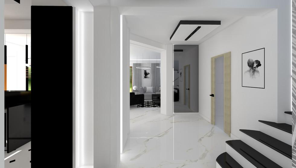 Dom, styl nowoczesny glamour