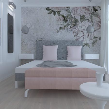 Sypialnia w nowoczesnym stylu glmour, Warszawa