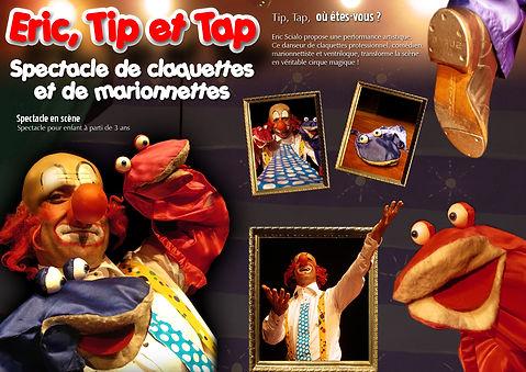 Eric Tip et Tap avec La compagnie Lune à l'autre Spectacle de claquettes et de marionnettes pour enfant vaucluse