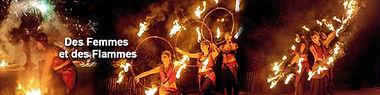 spectacle de feu des femmes et des flammes