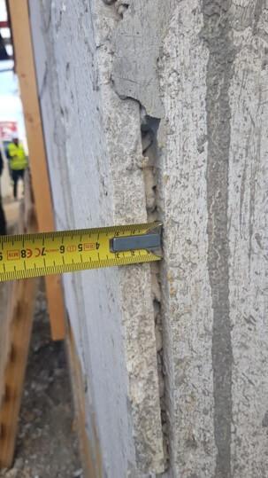 תיעוד מדידת לוחות אדקס בגשרי קור מעטפת הבניין