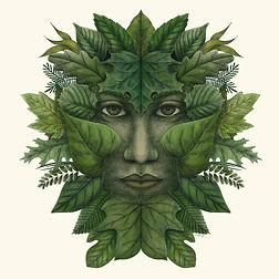 green man digital art