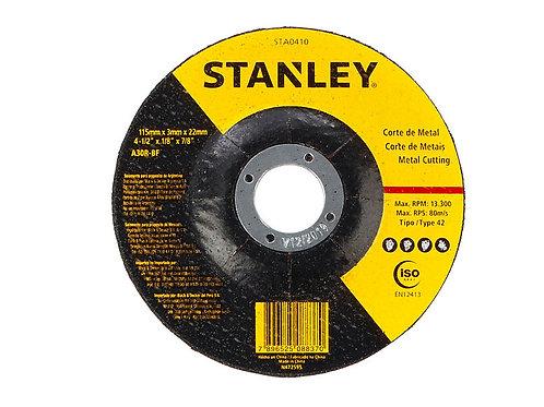"Stanley Disco Corte metal 4.5"" (115x3x22mm) T27"
