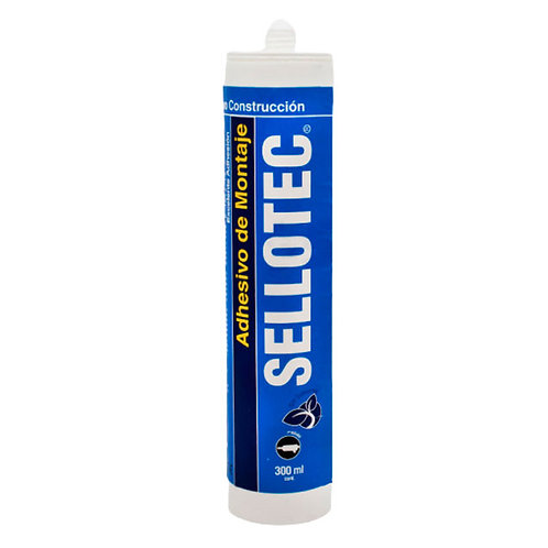 Sellotec Adhesivo Montaje Blanco 300ml