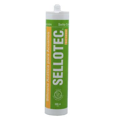 Sellotec Silicona Acetica Acuario SC1000 Transparente 300ml