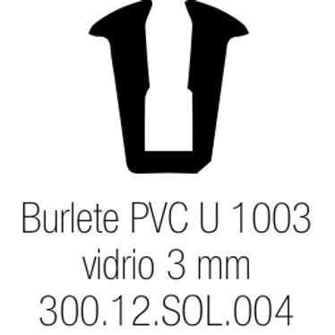 Burlete PVC Tipo U 1003 - L Vidrio de 3 mm