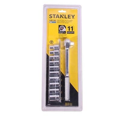 Stanley Set de 11 dados 1/2 pulg (10-19mm)