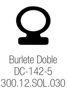 Burlete PVC Doble Contacto DC-142-5