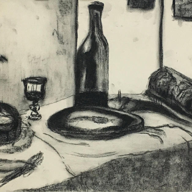 (SOLD) Still Life with Bottles