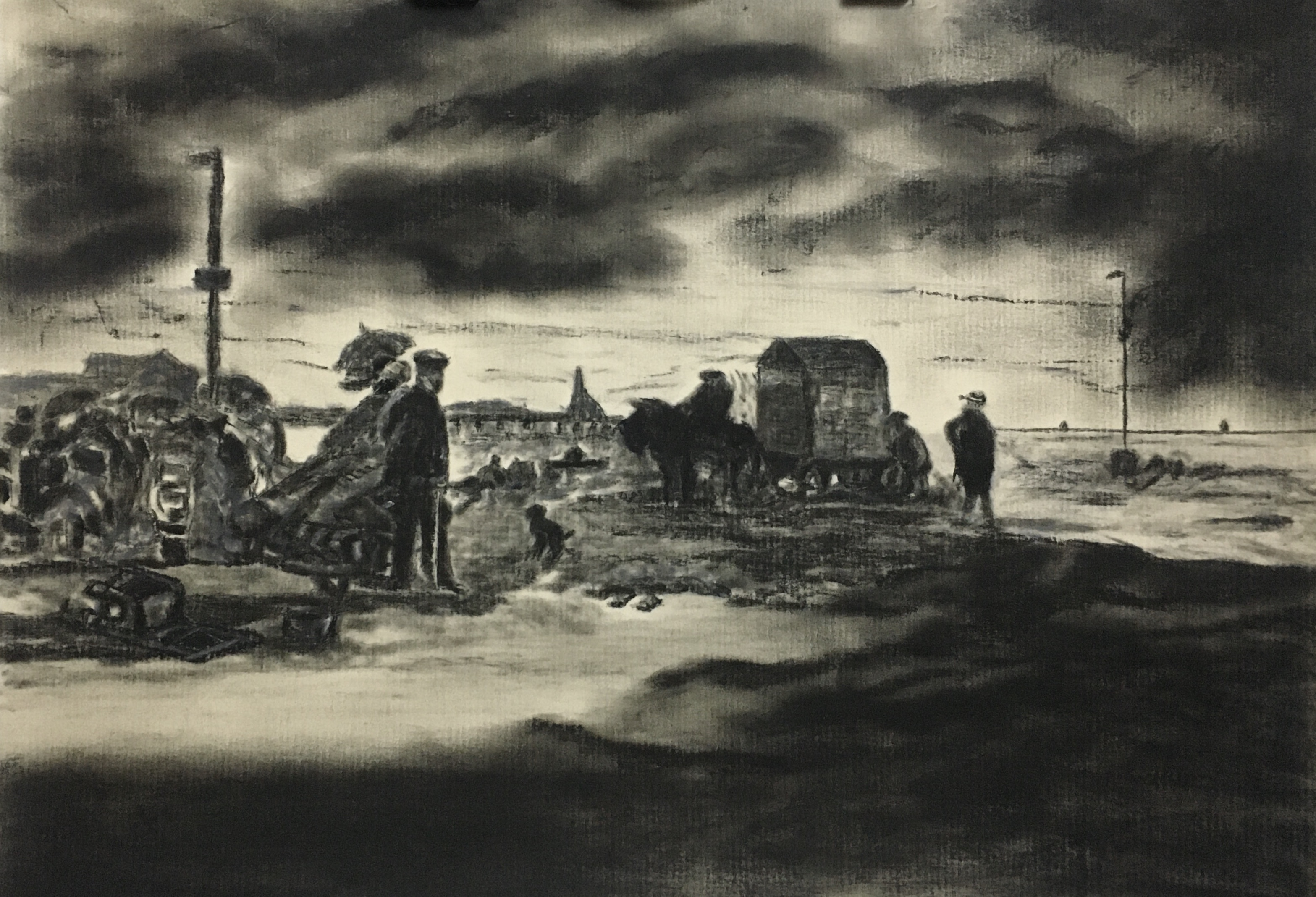 Beach Scene, Trouville, 1863
