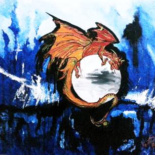 Dragon over moon 2013