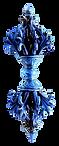 Horizontal blue vajra