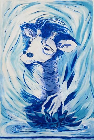 Blue Lotus Giraffe