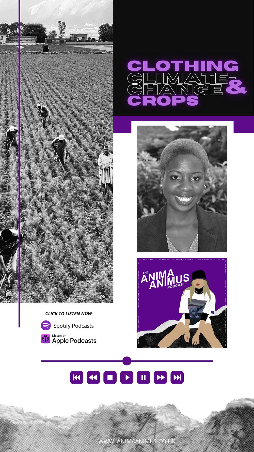 A fashion sustainability podcast by Chelsea from The ANIMA ANIMUS Podcast, featuring Climate-change adaptation specialist Ntaba Francis.