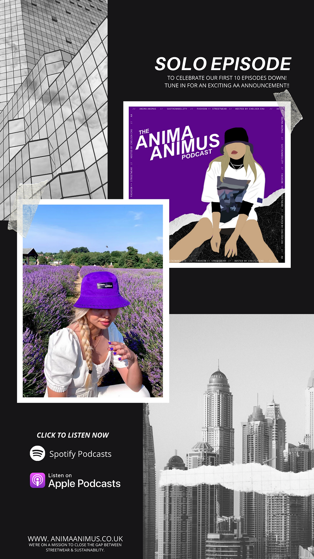 The ANIMA ANIMUS Podcast - ethical and sustainable fashion podcast to fight fast-fashion