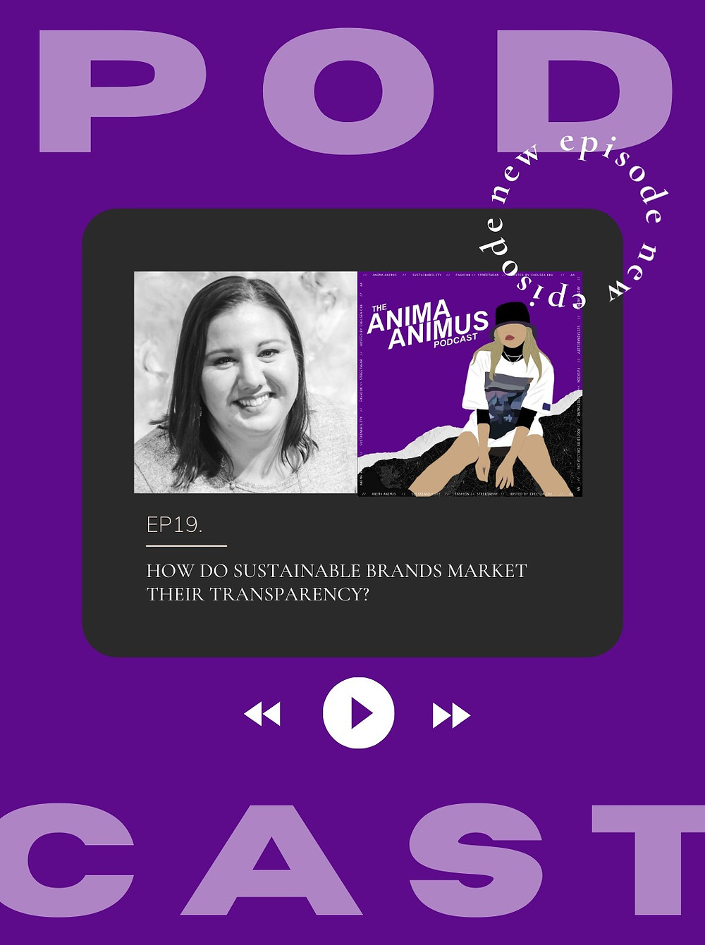 Podcast episode from fashion sustainability and streetwear podcast called The Anima Animus Podcast. This week's guest is Erica Larson from Pixel Power.