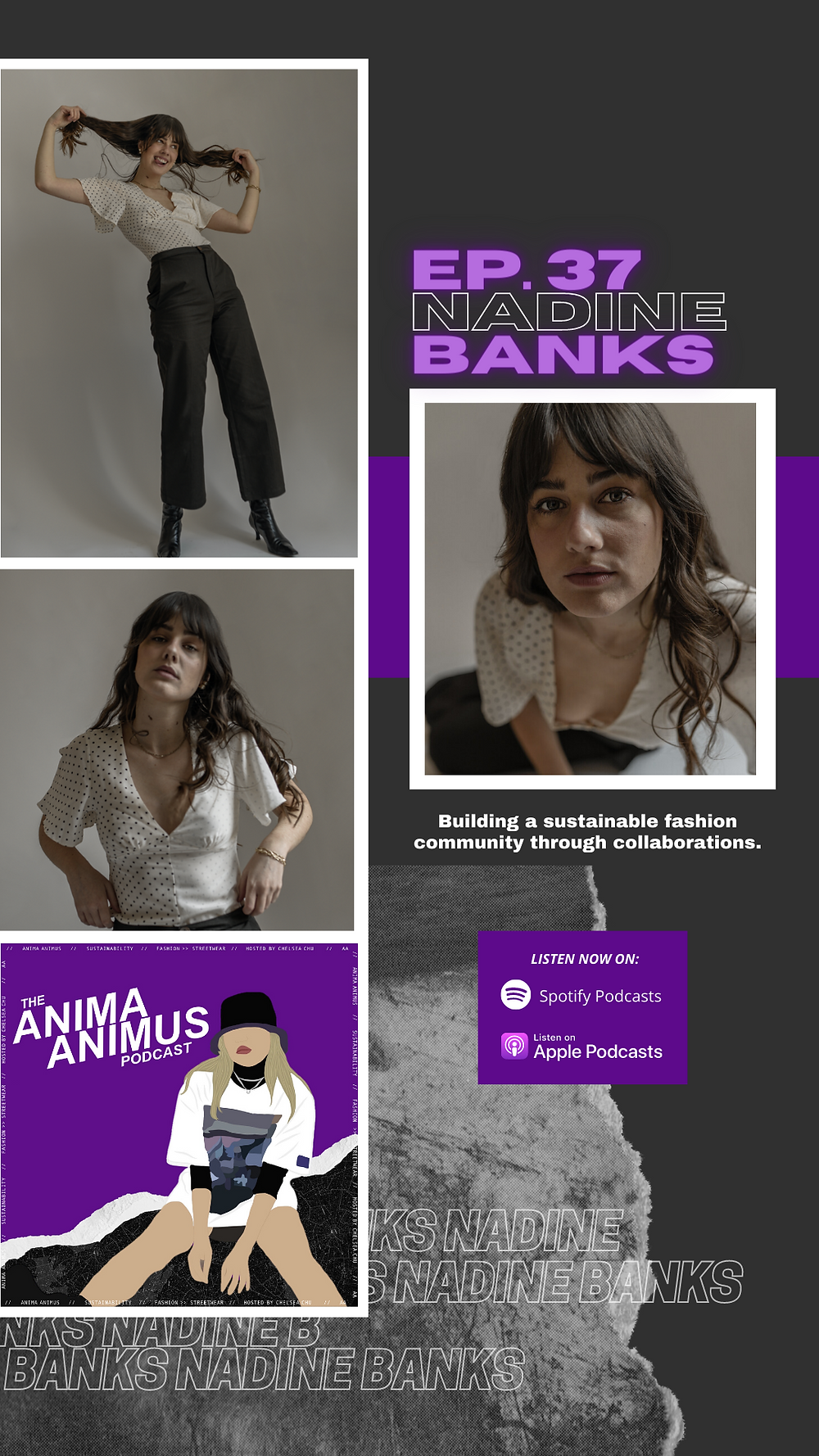 A fashion sustainability podcast by The ANIMA ANIMUS Podcast, featuring Nadine Banks on collaboration and building a sustainable fashion community for Re_Archive.