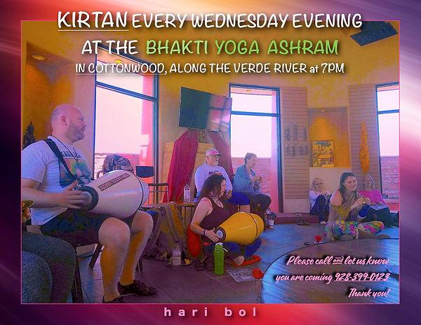 Kirtan at bhakti yoga ashram wednesdays