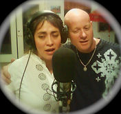 Rama & wife, Zulema recording on album