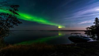 Pinehouse Lake northern lights