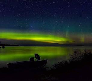 Northern lights Pinehouse Lake