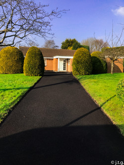 Turfed verges 2months later