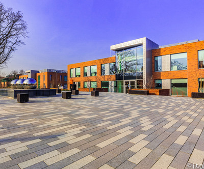 Office block paving
