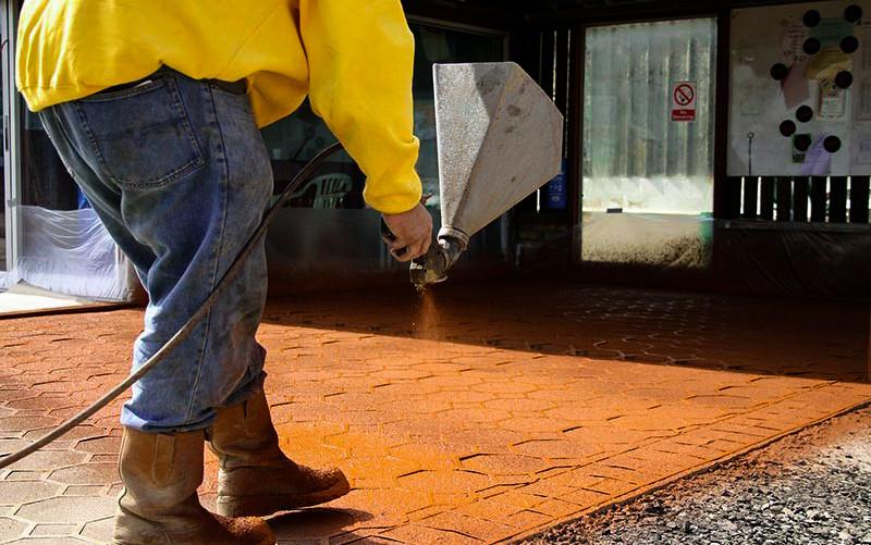 spray on paving