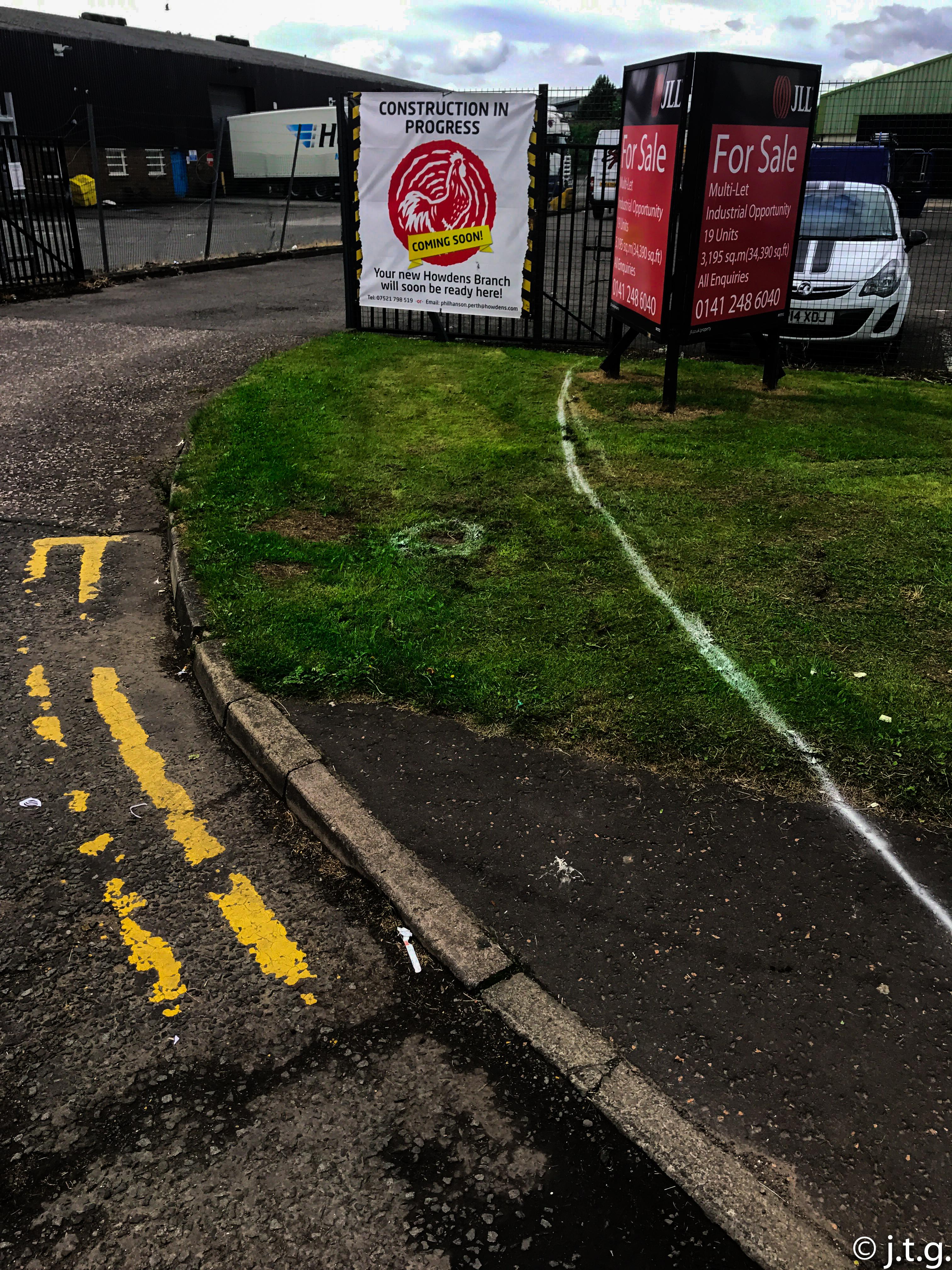 entrance ways and drop curbs