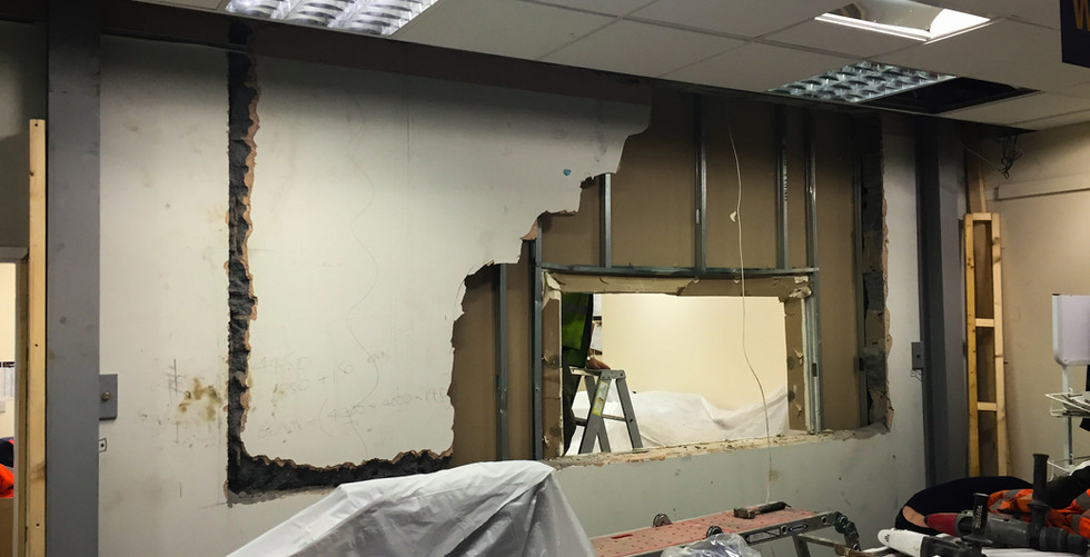 office rip out for new window