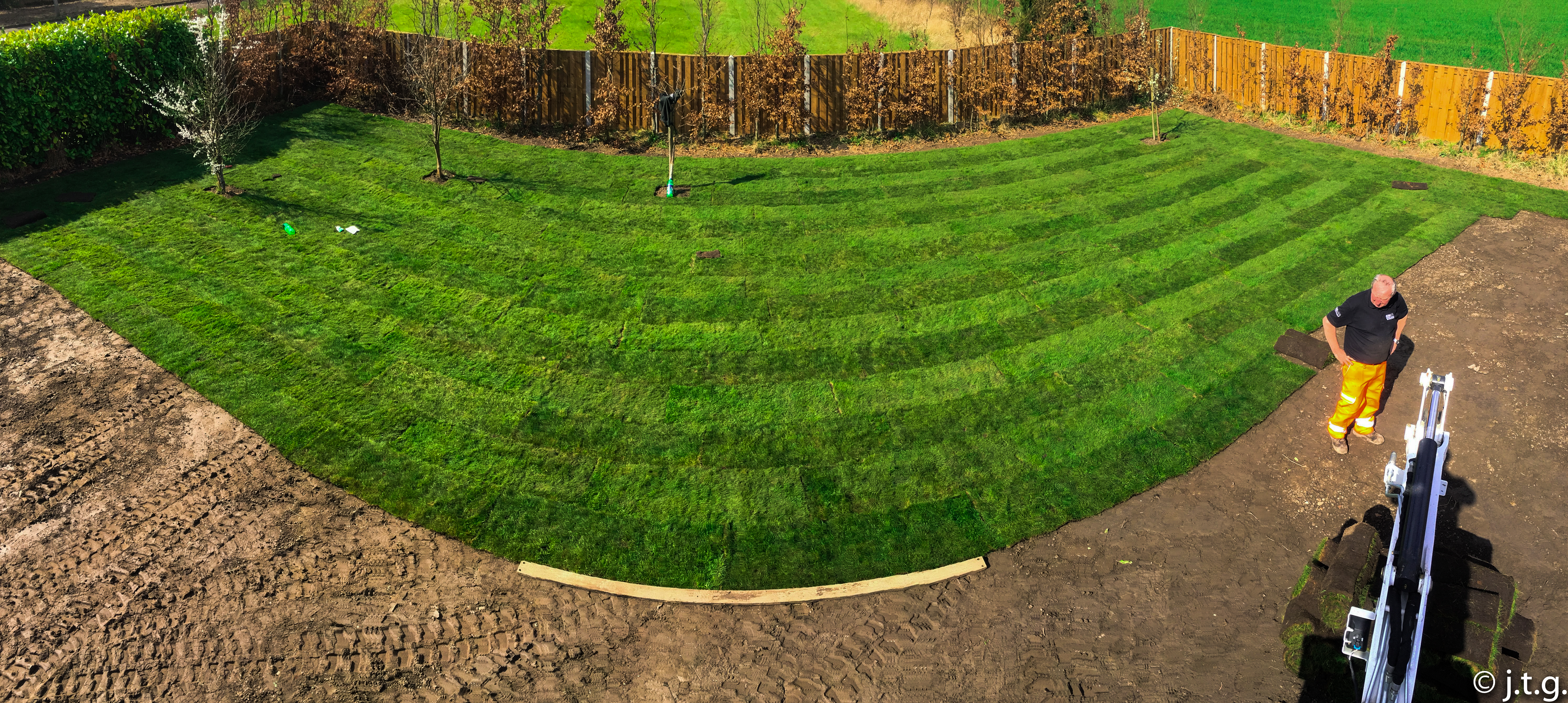 turf laid in Yorkshire