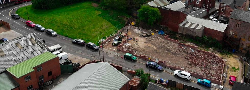 Carpark during construction