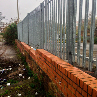 fence repaired and reset
