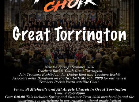 New for 2020 - Teachers Rock® Youth - Great Torrington