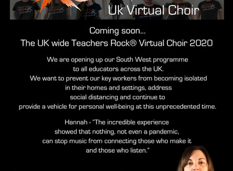 *** Coming soon ... Teachers Rock® UK Virtual Choir ***