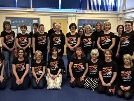 Somerset Teachers Rock in their brand new T's . . .