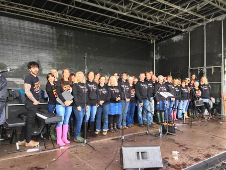 Teachers Rock® the rain away at Devon County Show 2017 . . . . .