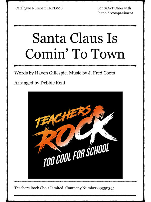 Santa Claus Is Comin' To Town - Alto