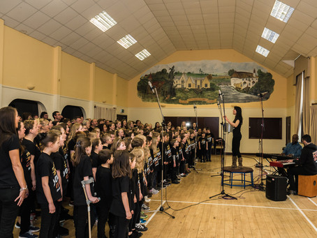 Teachers Rock® Youth Choir record their first professional 'live in session' album alongside Teacher
