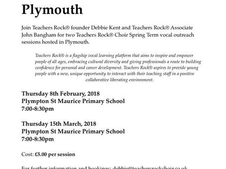 Teachers Rock® return to Plymouth on Thursday 8th February . . .