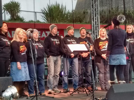 Teachers Rock in support of #SaveNDTheatres at Performers Strike Back open air concert on Saturday 1