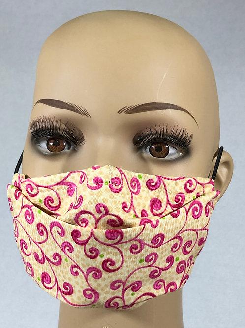 Masque à fleur rose
