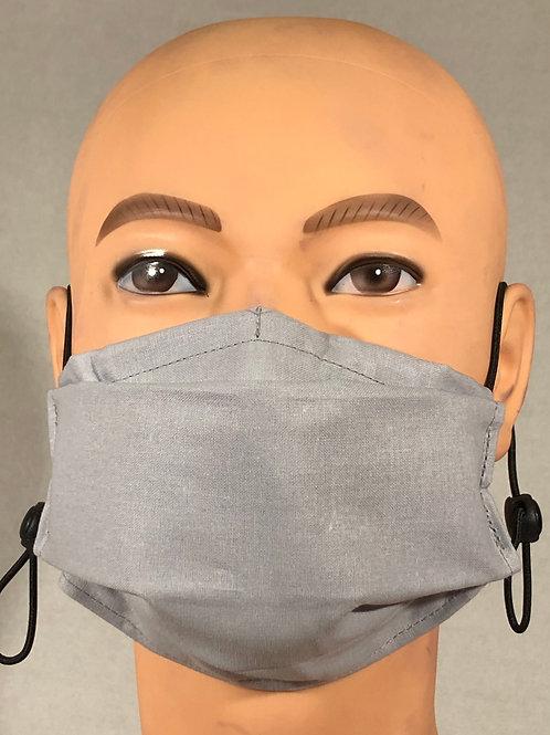 Masque gris argent