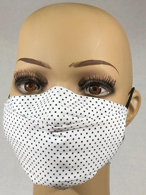 Masque blanc à pois noir