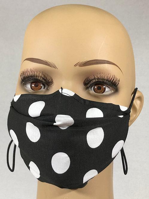 Masque noir à pois blanc