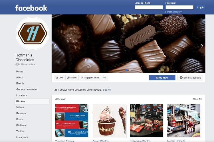 Hoffman's Chocolate on Facebook